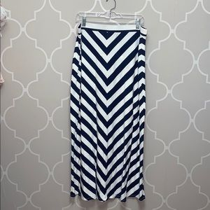 The Loft Maxi Skirt Blue and White size Large
